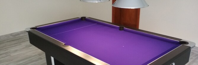 The Richmond Pool Table In Black And Purple