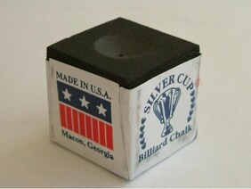 Silver Cup Chalk x 6 Cubes - Black
