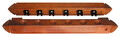Cue Rack Mahogany Finish - 6 Way